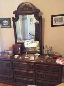 Dresser with Mirror and Wardrobe - Estate Sale