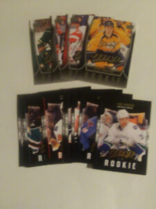 16 CARTES DE HOCKEY ROOKIES DE UPPER DECK MVP 2011 A 2014