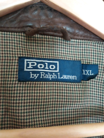 Mens Brown Lambskin Ralph Lauren polo Jacket