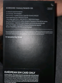 Samsung Galaxy Note 10+ 5G open to all networks
