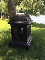 Bronze metal Chimnea outdoor Fireplace