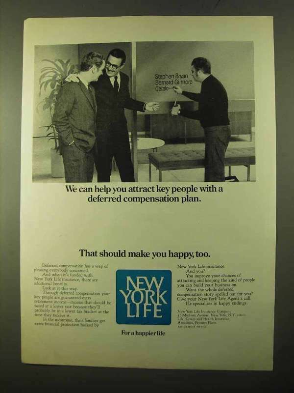 1970 New York Life Ad - Help You Attract Key People