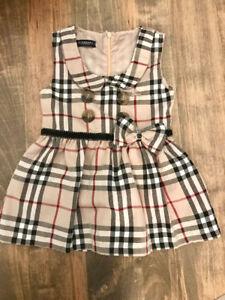New Girls Burberry dress 12-18 months or 18-24