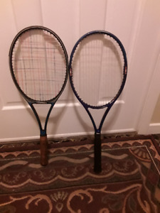 TWO LIGHT-WEIGHT TENNIS RACQUETS