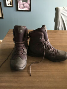 Mens Salomon Grey/Black Winter Boots