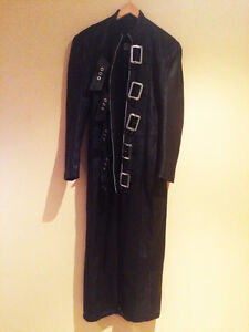 Genuine Leather Trench Coat in mint condition!