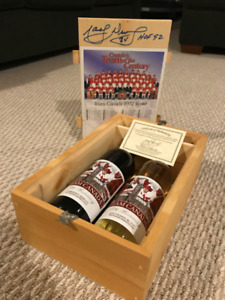 1972 Summit Series Wine Box - Autographed by Marcel Dionne!