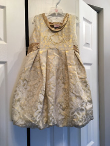 Gold & Ivory Party Dress - Size 8 - Brand New With Tags