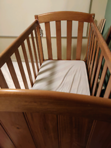 Timber Cot with mattress