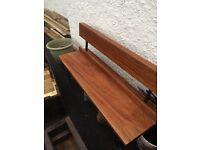 Reclaimed church mahogany bench