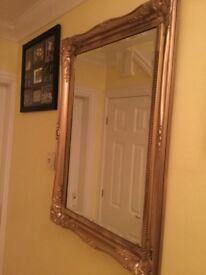 Large chunky gilt framed mirror