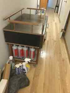 Furniture to put colour tubes and peroxide