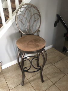 Beautiful wrought iron bar stools