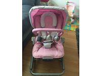 Maclaren baby rocker pink x2