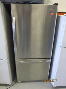 Kenmore 21cu stainless steel fridge with optional ice maker kit