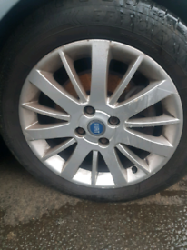 Set of 4 fiat punto grand alloy wheels rim with tyre 16 inch