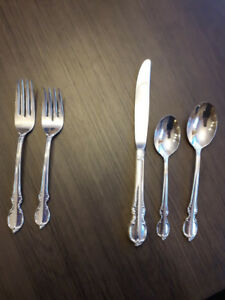 Rogers Bros 1847 Silver Flatware Reflection Pattern 9 place