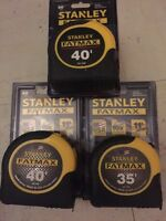 New 3 Stanley Fatmax Measuring Tapes 35' , 40'