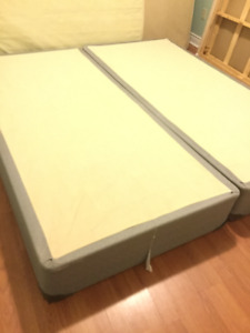 free delivery- 1yr old king split boxspring