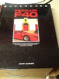 Ferrari F40 Super Cars Hard Back Book