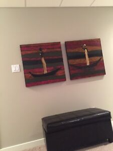 Two Paintings - textured, rich colours. Regina Regina Area image 1
