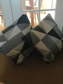 Next grey pattern cushions cases