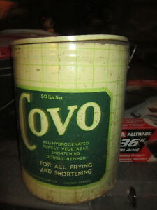 Cool old Tin Covo Vegetable Oil Can. Clean, original Condition. Oakville / Halton Region Toronto (GTA) image 1