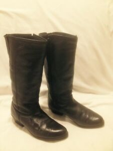 Ladies Martino ClassicTall Black Leather Boots Made in Canada 9M