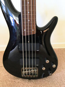 Customized Fretless Ovation 5-String Bass
