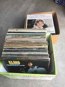 Vintage record albums. Two boxes great for a collector