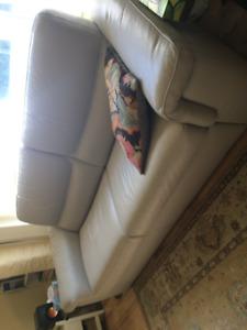 Italian leather sofa/bed
