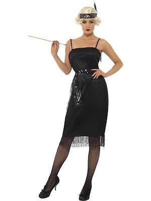 Flapper Kostüm, 1920'S Kostüm, Gangster, Moll / Flapper, Klein 8-10, - Gangster Flapper Kostüm