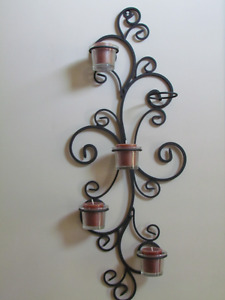 Cast Iron wall candle holder