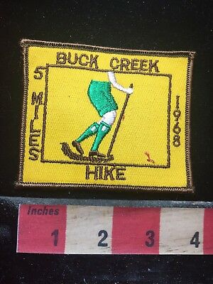 Vtg 1968 5 Miles Hike BUCK CREEK State Park In Ohio Patch 77P5
