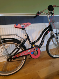 Girl bicycle with basket for 7-8 years old