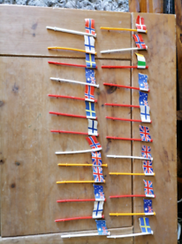 Scalextric scenery flags