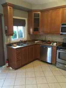 Like new solid maple kitchen with counters and sink