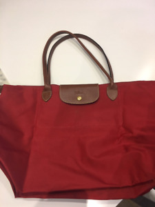 83723c5e8848 Longchamp Pliage RED Large Tote - Used - 100% Authentic