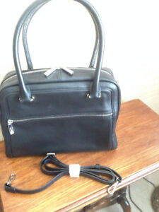 Large leather satchel bag by Danier
