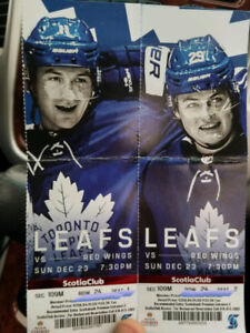 Toronto maple leafs vs Red wings Sunday Dec 23 rd @ 730pm