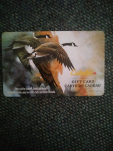 Cabela's 31.50$ gift card for only 15$