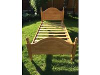 Pine single bed frame in very good condition