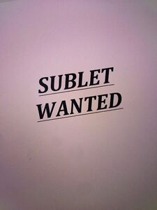 WANTED: 2 Bedroom Sublet