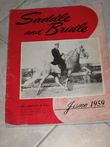 ...An Old 1959 SADDLE and BRIDLE HORSE Magazine....