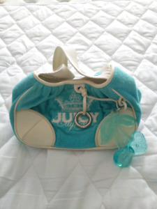 Juicy Couture light blue terry cloth purse