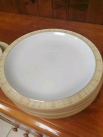 Denby caramel stripes x 5 plates