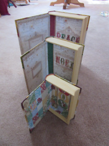 Nesting Christmas Book Shaped Boxes