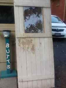 Old tongue and groove door