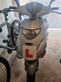 Adly predator moped with alarm and mot till Aug 2022