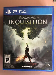 Dragon Age Inquisition PS4 Game - $10